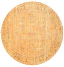 Maharani - Pomarańczowy Dywan Ø 150 Nowoczesny Okrągły Jasnobrązowy/Ciemnobeżowy ( Turcja)