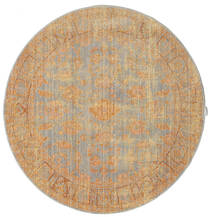 Maharani - Grey/Yellow Rug Ø 150 Modern Round Light Brown ( Turkey)
