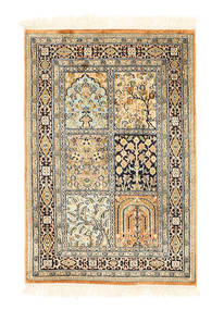 Kashmir pure silk carpet XVZA267
