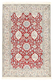 Nain 6La Rug 132X194 Authentic Oriental Handknotted White/Creme/Light Grey (Wool/Silk, Persia/Iran)