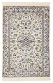 Nain 6La Rug 103X153 Authentic  Oriental Handknotted Light Grey/Beige/White/Creme (Wool/Silk, Persia/Iran)