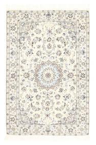 Nain 6La Teppe 100X157 Ekte Orientalsk Håndknyttet Beige/Mørk Beige (Ull/Silke, Persia/Iran)