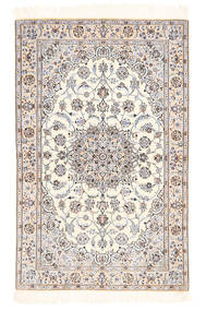 Nain 6La Rug 100X155 Authentic  Oriental Handknotted Beige/Light Grey (Wool/Silk, Persia/Iran)