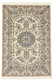 Nain 6La Rug 100X147 Authentic  Oriental Handknotted Beige/Light Brown (Wool/Silk, Persia/Iran)