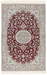 Nain 6La Rug 103X163 Authentic  Oriental Handknotted Beige/Dark Red (Wool/Silk, Persia/Iran)