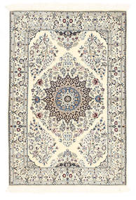 Nain 6La Rug 100X150 Authentic  Oriental Handknotted Beige/Dark Grey (Wool/Silk, Persia/Iran)