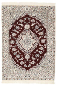 Nain 6La Rug 102X153 Authentic  Oriental Handknotted Beige/Dark Red (Wool/Silk, Persia/Iran)