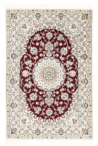 Nain 6La Rug 102X152 Authentic  Oriental Handknotted Beige/Dark Red (Wool/Silk, Persia/Iran)
