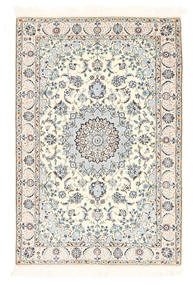 Nain 6La Rug 100X148 Authentic  Oriental Handknotted Beige/Light Grey (Wool/Silk, Persia/Iran)