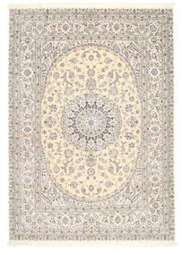 Nain 6La Signed: Tajeb Mohamadi Rug 205X295 Authentic  Oriental Handknotted Light Grey/Beige (Wool/Silk, Persia/Iran)