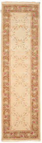 Himalaya Rug 84X293 Authentic  Modern Handknotted Hallway Runner  Light Brown/Dark Beige/Beige ( India)