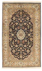 Kashmir 100% Silkki Matto 94X159 Itämainen Käsinsolmittu Vaaleanruskea/Ruskea (Silkki, Intia)