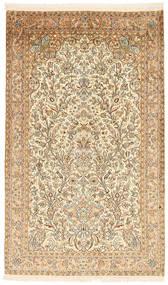 Kashmir 100% Silkki Matto 94X158 Itämainen Käsinsolmittu Beige/Vaaleanruskea (Silkki, Intia)