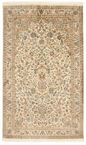 Kashmir 100% Silkki Matto 96X158 Itämainen Käsinsolmittu Beige/Vaaleanruskea (Silkki, Intia)