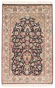 Kashmir Äkta Silke Matta 62X97 Äkta Orientalisk Handknuten Ljusbrun/Beige (Silke, Indien)