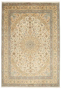 Cachemira Pura De Seda Alfombra 217X315 Oriental Hecha A Mano Marrón Claro/Beige (Seda, India)