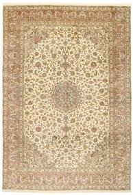 Kashmir Ren Silke Teppe 215X312 Ekte Orientalsk Håndknyttet Lysbrun/Beige (Silke, India)