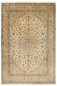 Kaszmir Czysty Jedwab Dywan 212X315 Orientalny Tkany Ręcznie Jasnobrązowy/Beżowy (Jedwab, Indie)