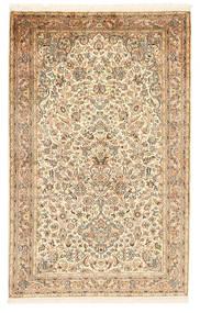Kashmir 100% Silkki Matto 97X159 Itämainen Käsinsolmittu Beige/Vaaleanruskea (Silkki, Intia)