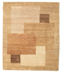 Himalaya Rug 154X188 Authentic  Modern Handknotted Dark Beige/Light Brown (Wool, India)