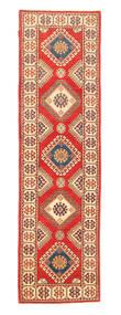 Kazak Teppe 82X289 Ekte Orientalsk Håndknyttet Teppeløpere Orange/Beige (Ull, Pakistan)
