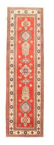 Kazak Rug 81X295 Authentic  Oriental Handknotted Hallway Runner  Orange/Light Brown (Wool, Pakistan)