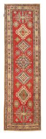 Kazak Rug 84X286 Authentic Oriental Handknotted Hallway Runner Rust Red/Light Brown (Wool, Pakistan)