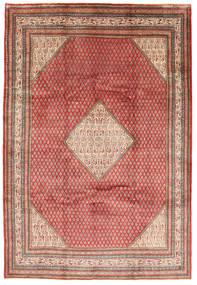 Sarough Mir Matta 223X325 Äkta Orientalisk Handknuten Beige/Mörkröd (Ull, Persien/Iran)