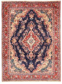 Hamadan Matta 210X287 Äkta Orientalisk Handknuten Mörklila/Rosa (Ull, Persien/Iran)