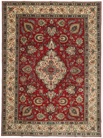 Tabriz Patina Rug 300X407 Authentic  Oriental Handknotted Dark Red/Dark Brown Large (Wool, Persia/Iran)