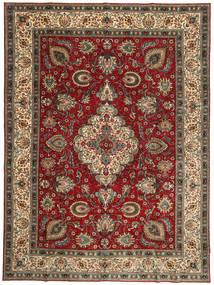 Tabriz Patina Matto 300X407 Itämainen Käsinsolmittu Tummanpunainen/Tummanruskea Isot (Villa, Persia/Iran)