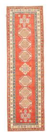Kazak Matto 86X285 Itämainen Käsinsolmittu Käytävämatto Oranssi/Beige (Villa, Pakistan)