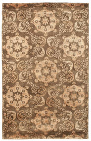 Himalaya Rug 155X243 Authentic  Modern Handknotted Brown/Light Brown (Wool, India)