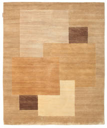 Himalaya Rug 153X187 Authentic  Modern Handknotted Dark Beige/Light Brown (Wool, India)