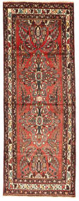 Hamadan Rug 105X288 Authentic  Oriental Handknotted Hallway Runner  Dark Brown/Dark Red (Wool, Persia/Iran)