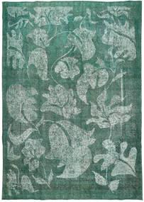 Colored Vintage Tapete 266X383 Moderno Feito A Mão Azul Escuro/Azul Turquesa Grande (Lã, Pérsia/Irão)
