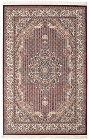 Aranja - Dark Red Rug 6′7″x9′10″ Oriental Light Brown/Dark Grey ( Turkey)
