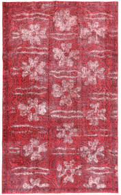 Colored Vintage Alfombra 155X257 Moderna Hecha A Mano Rosa/Rojo Oscuro/Óxido/Roja (Lana, Persia/Irán)