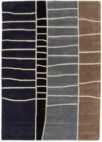 Abstract Bamboo Handtufted Rug 160X230 Modern Dark Purple/Light Grey (Wool, India)