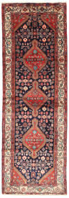 ハマダン 絨毯 102X305 オリエンタル 手織り 廊下 カーペット 深紅色の/濃い紫 (ウール, ペルシャ/イラン)