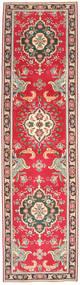 タブリーズ パティナ 絨毯 83X338 オリエンタル 手織り 廊下 カーペット 濃い茶色/赤 (ウール, ペルシャ/イラン)