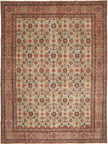 Tabriz Patina Teppe 303X403 Ekte Orientalsk Håndknyttet Lysbrun/Mørk Rød Stort (Ull, Persia/Iran)