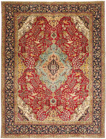 Tabriz Patina Rug 298X390 Authentic  Oriental Handknotted Light Brown/Dark Red Large (Wool, Persia/Iran)