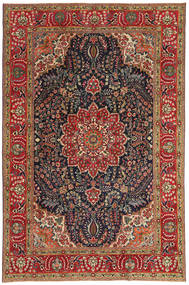 Tabriz Patina Rug 200X312 Authentic  Oriental Handknotted Dark Red/Light Brown (Wool, Persia/Iran)