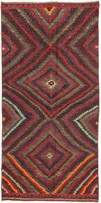 Kilim Fars Rug 147X304 Authentic  Oriental Handwoven Dark Red/Dark Grey (Wool, Persia/Iran)