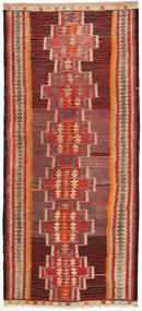 Kilim Fars Rug 148X328 Authentic Oriental Handwoven Hallway Runner Brown/Light Brown (Wool, Persia/Iran)