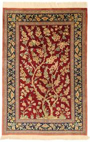 Qum silk signed: Motevasel rug XVZH70
