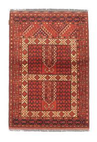 Afghan Kargahi Teppich 104X151 Echter Orientalischer Handgeknüpfter Dunkelrot/Rost/Rot (Wolle, Afghanistan)