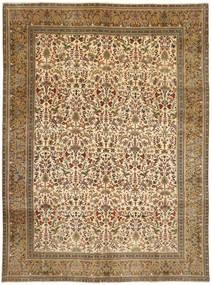 Tabriz Patina Tabatabai Matto 300X406 Itämainen Käsinsolmittu Vaaleanruskea Isot (Villa, Persia/Iran)