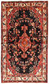 Hamadan Rug 137X245 Authentic  Oriental Handknotted Dark Brown/Dark Red (Wool, Persia/Iran)